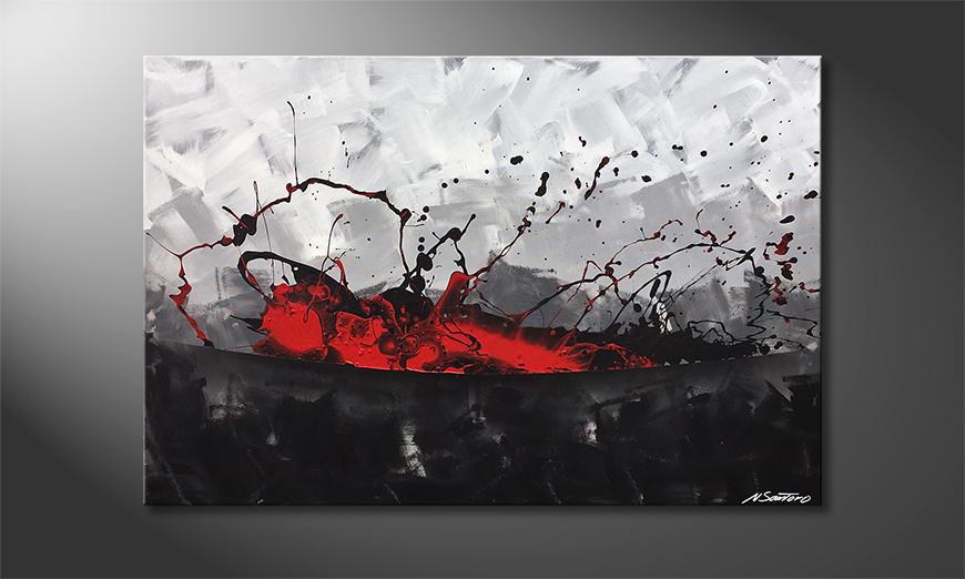 Das Wandbild Aboiled Red 120x80x2cm
