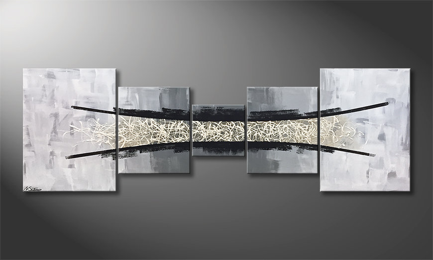 Das Wandbild Abyss Of Light 210x70x2cm