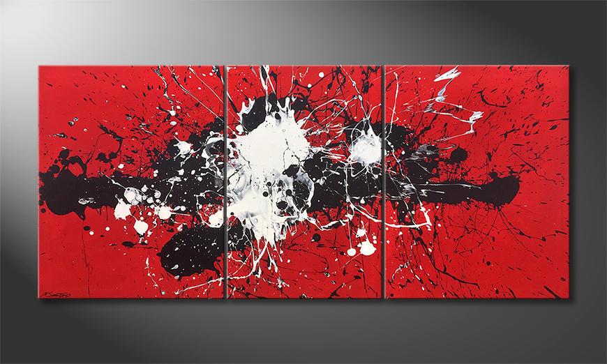 Das Wandbild Battle Of Opposites 200x90x2cm