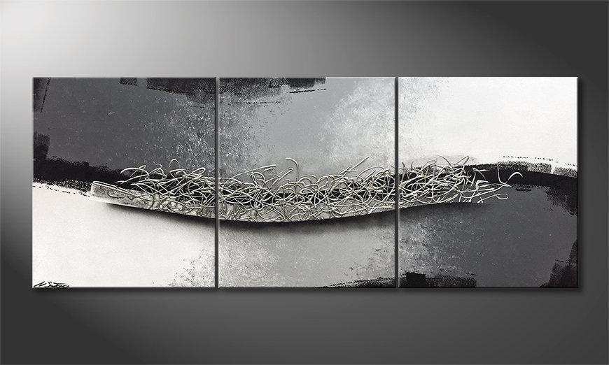Das Wandbild Between Light And Shadow 180x70x2cm