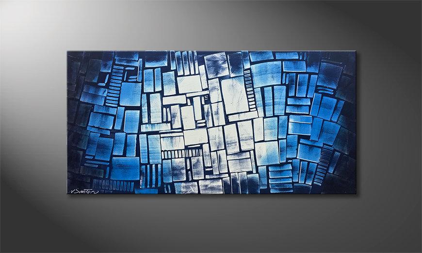 Das Wandbild Blue Moon 120x60x2cm