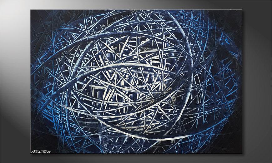Das Wandbild Blue Moon 120x80x2cm
