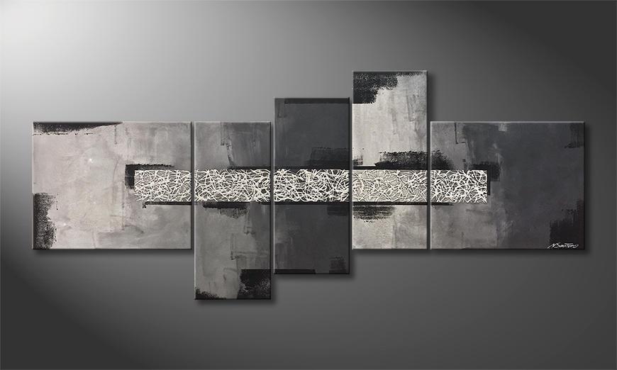 Das Wandbild Broken Night 210x90x2cm