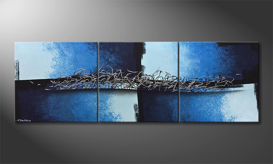 Das Wandbild Broken Water 210x70x2cm