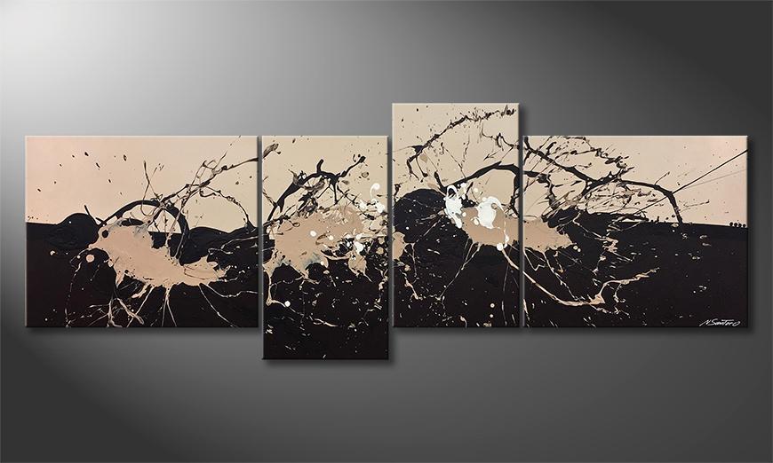 Das Wandbild Café Au Lait 220x80x2cm