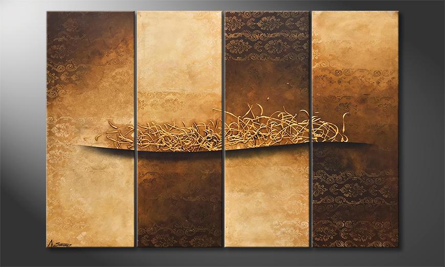 Das Wandbild Changes Of Time 160x110x2cm