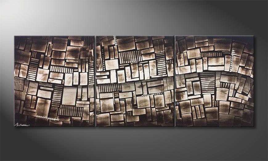 Das Wandbild City Lights 180x70x2cm