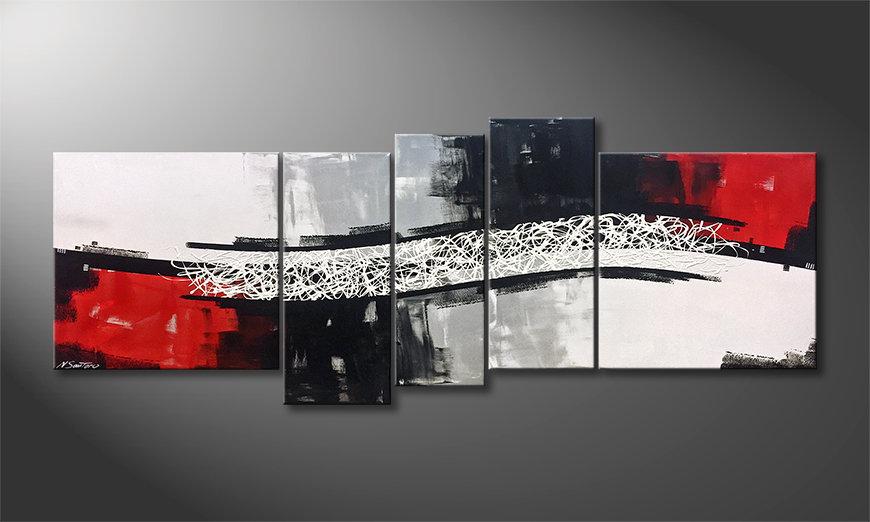 Das Wandbild Clash Of Contrast 205x80x2cm