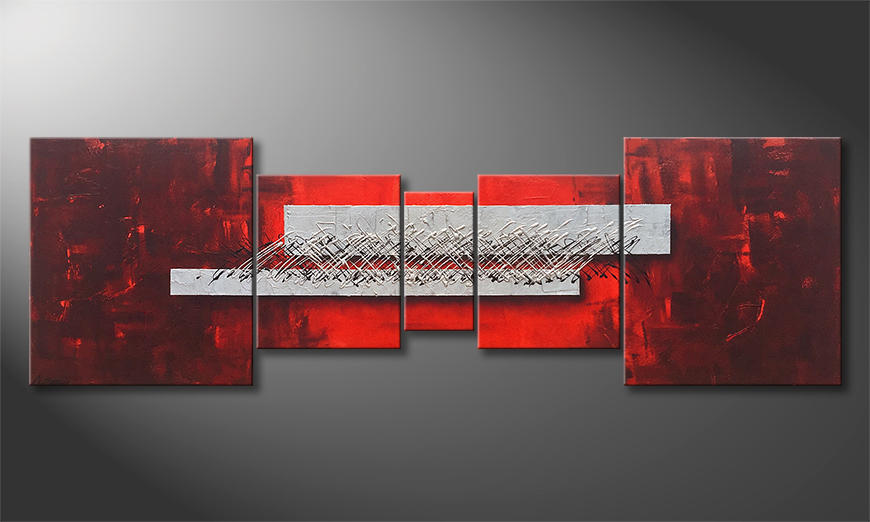 Das Wandbild Clear Thoughts 220x70x2cm
