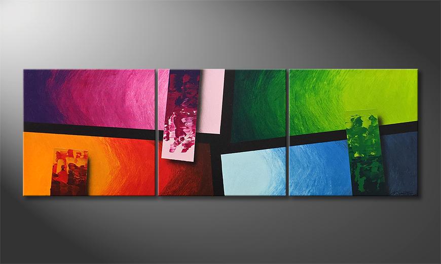Das Wandbild Color Blocs 150x50x2cm