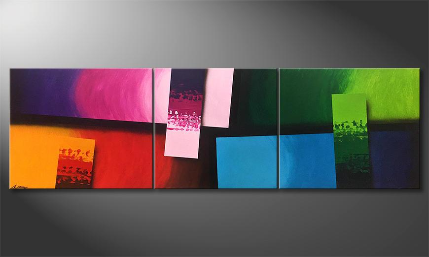 Das Wandbild Color Comic 260x80x2cm