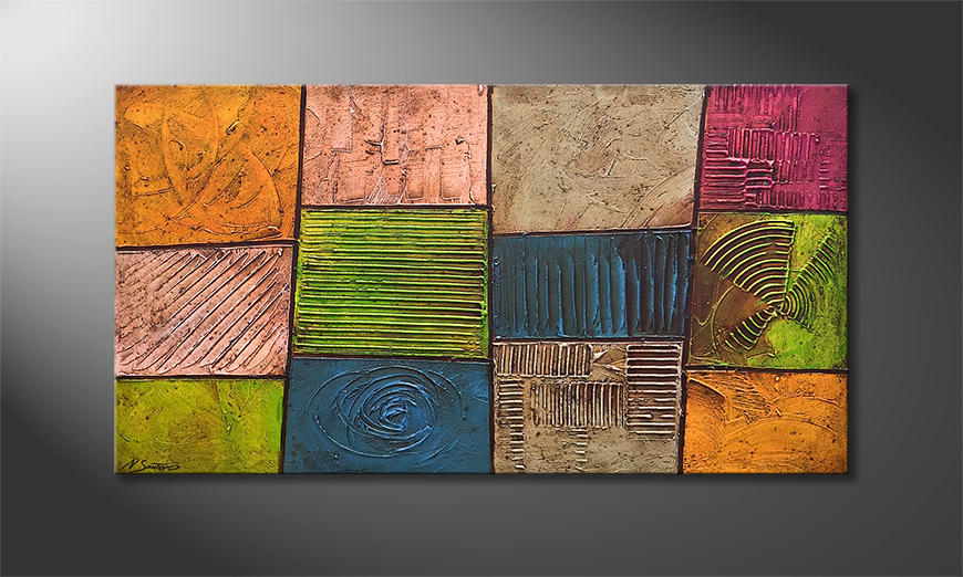 Das Wandbild Colorful Nature 130x70x4cm