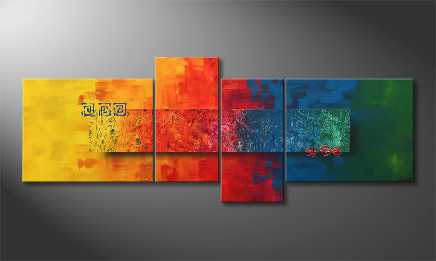 Das Wandbild Colors Of Nature 180x70x2cm