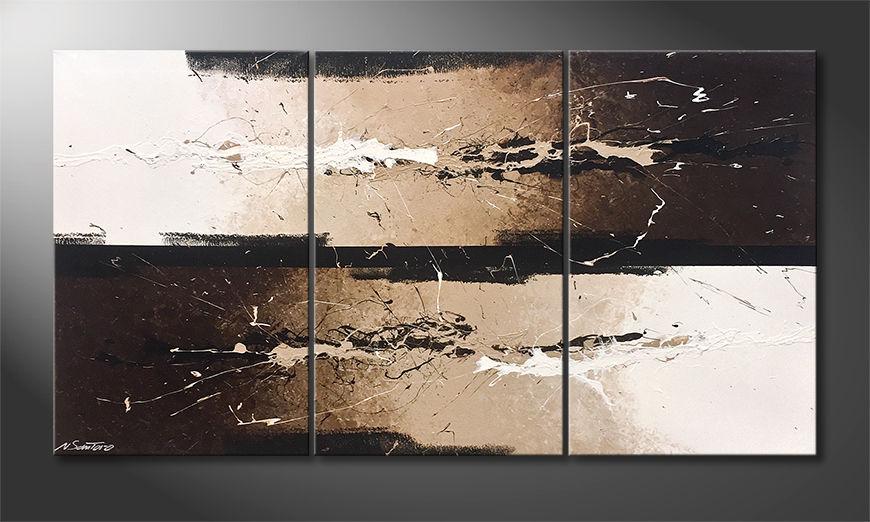Das Wandbild Creamy Splashes 150x80x2cm