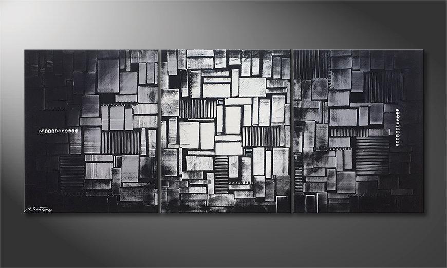 Das Wandbild Cubic Moonshine 180x70x2cm