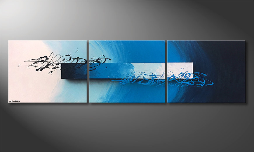 Das Wandbild Deep Sea Signs 225x60x2cm