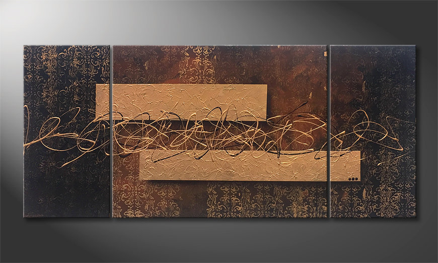 Das Wandbild Emotional Treasure 180x80x2cm
