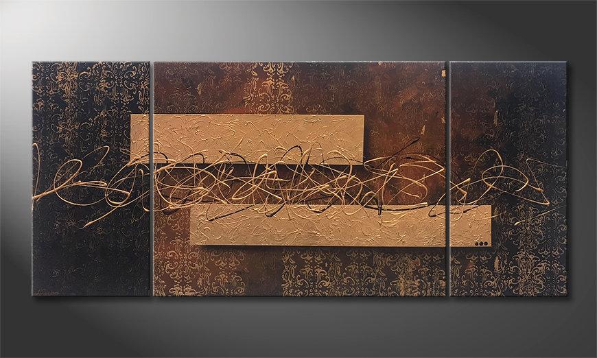 Das Wandbild Emotional Treasure 180x80x2cm