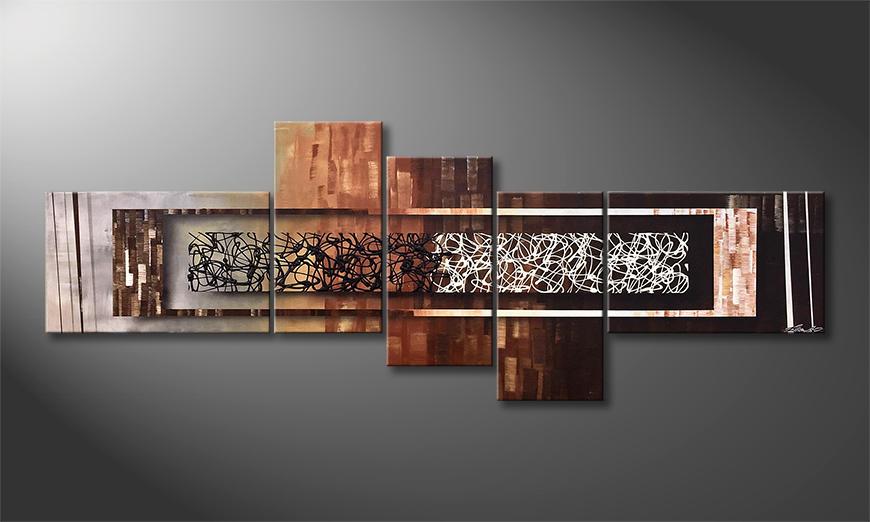 Das Wandbild Endless Dawn 210x80x2cm