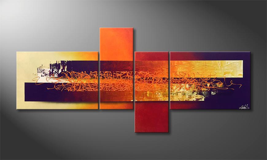 Das Wandbild Endless Sundown 200x90x2cm