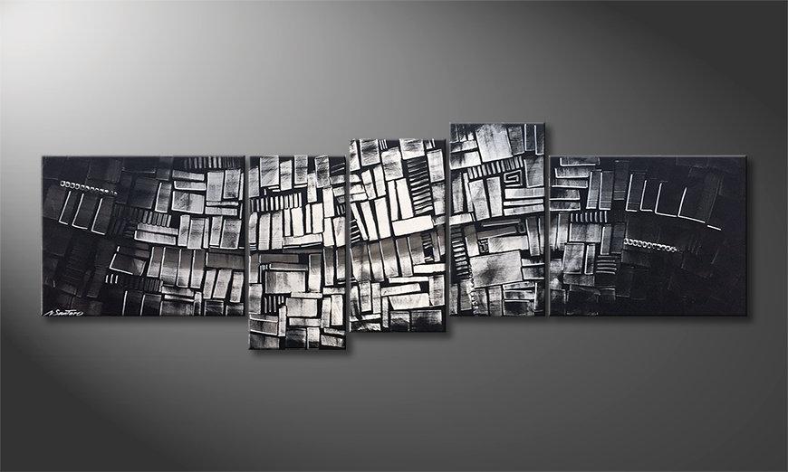 Das Wandbild Enlightened Colors 210x70x2cm