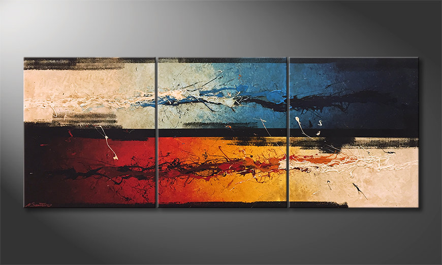 Das Wandbild Fire vs. Ice 180x70x2cm