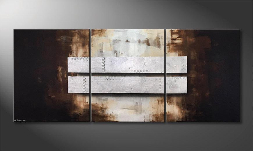 Das Wandbild Fortunate Silver 210x90x2cm