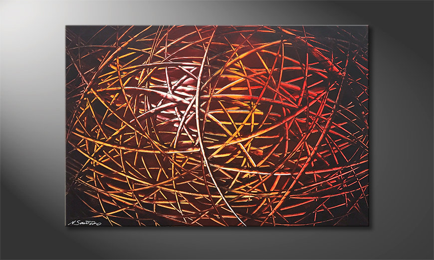 Das Wandbild Glowing Stripes 120x80x2cm
