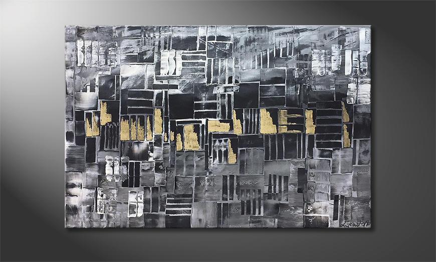Das Wandbild Golden Lights 120x80x2cm