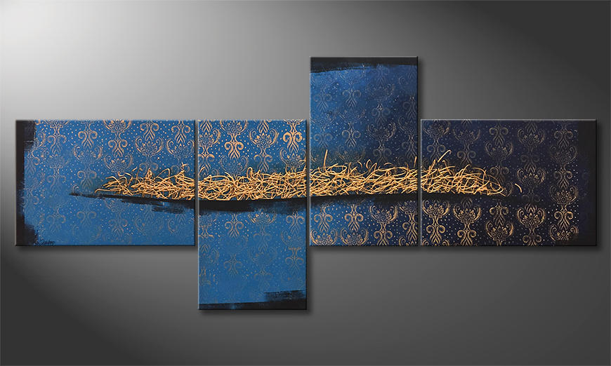 Das Wandbild Golden Melody 260x120x2cm