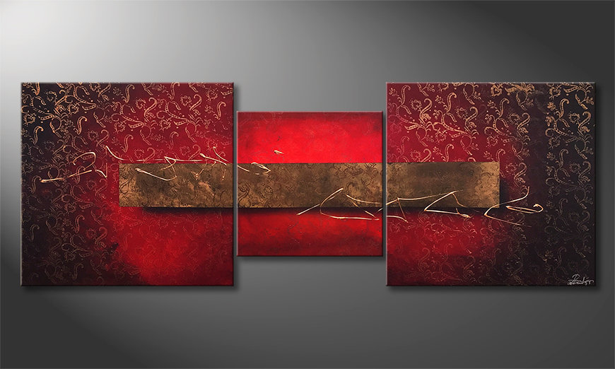 Das Wandbild Golden Moments 190x70x2cm