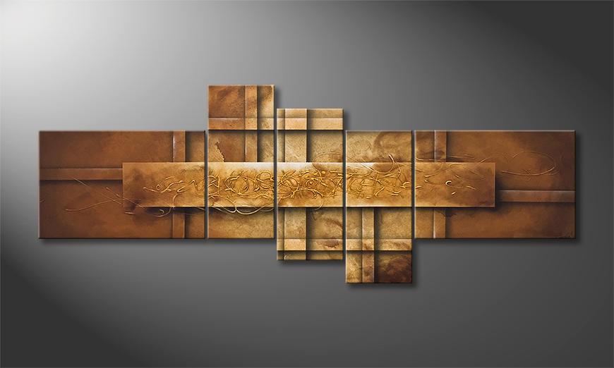 Das Wandbild Golden Secrets 230x90x2cm