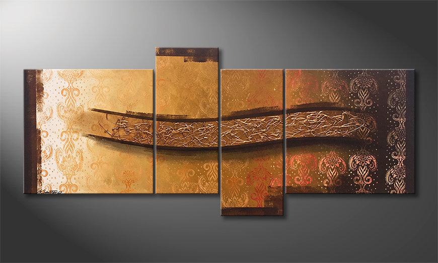 Das Wandbild Golden Wing 180x80x2cm