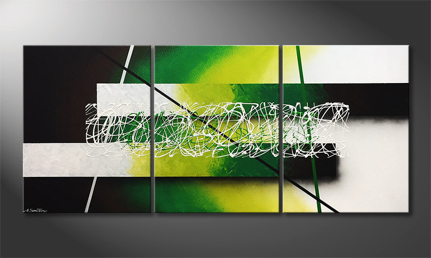 Das Wandbild Green Connection 180x80x2cm