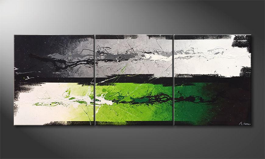 Das Wandbild Green Dimension 180x70x2cm