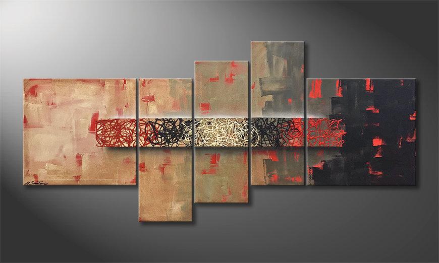 Das Wandbild Hot Spots 210x100x2cm