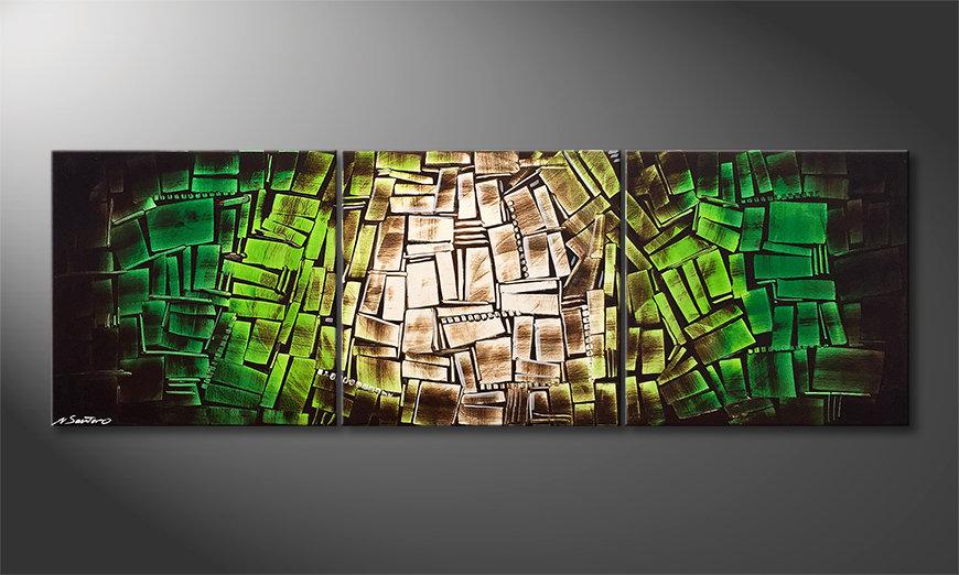 Das Wandbild In The Woods 180x60x2cm