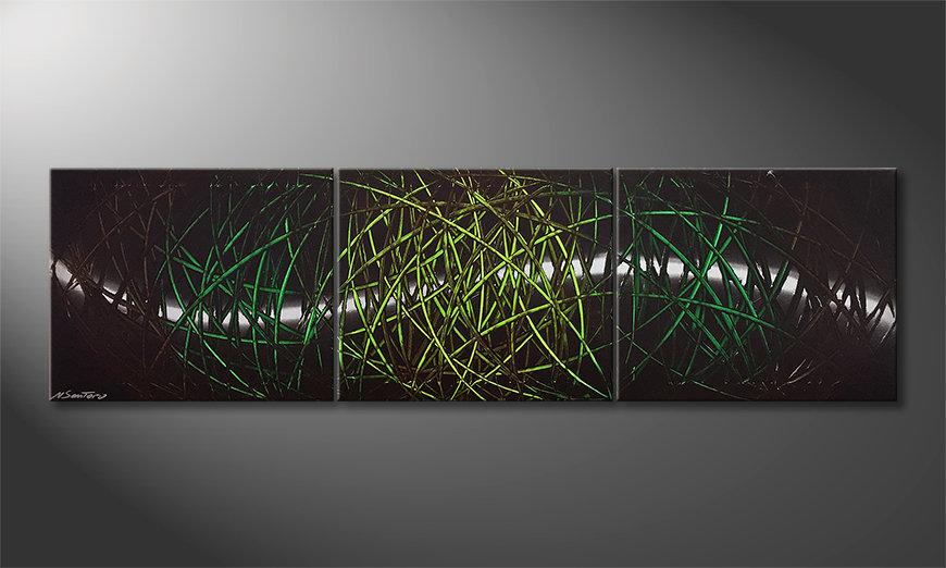 Das Wandbild Jungle Moonlight 180x60x2cm