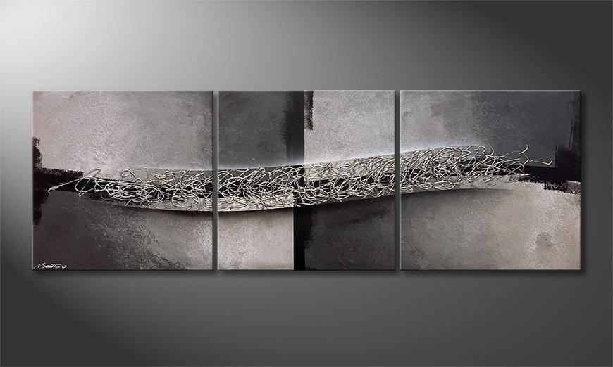 Das Wandbild Light And Shade 210x70x2cm