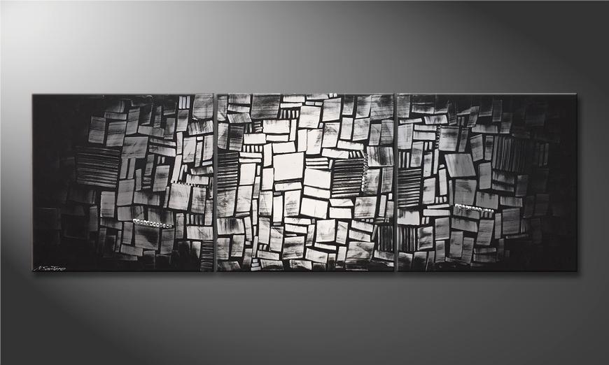 Das Wandbild Light Mosaic 240x80x2cm
