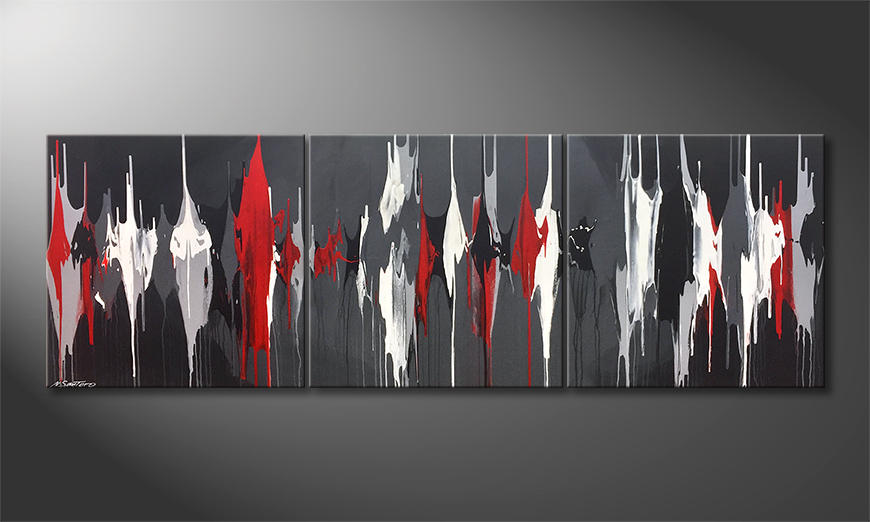 Das Wandbild Liquid Contrast 210x70x2cm