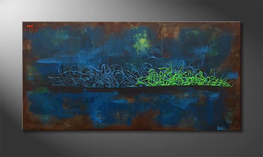 Das Wandbild Living Water 140x70x2cm