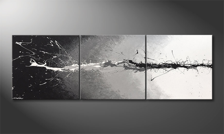 Das Wandbild Lost Colors 210x70x2cm