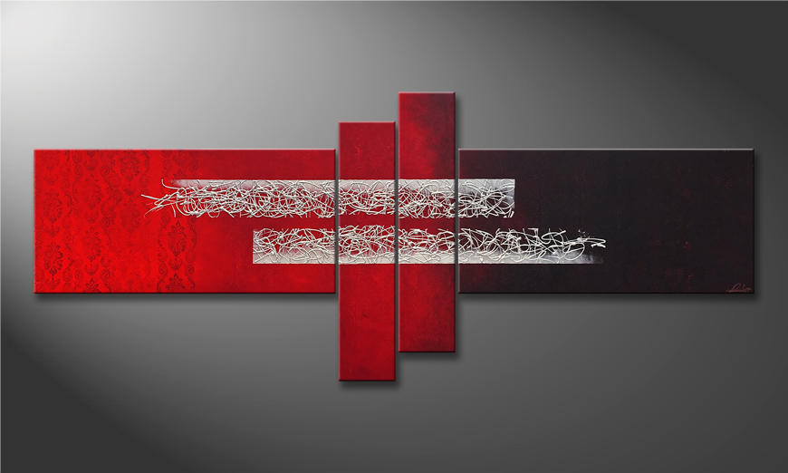 Das Wandbild Melting Silver 240x100x2cm