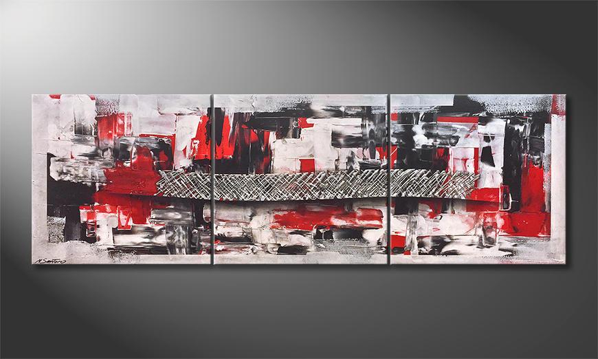 Das Wandbild Middle Of Contrast 210x70x2cm