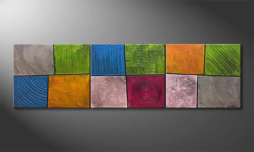 Das Wandbild Mind Garden 210x60x2cm