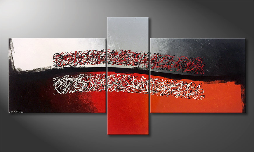 Das Wandbild Mirrored Emotion 220x110cm