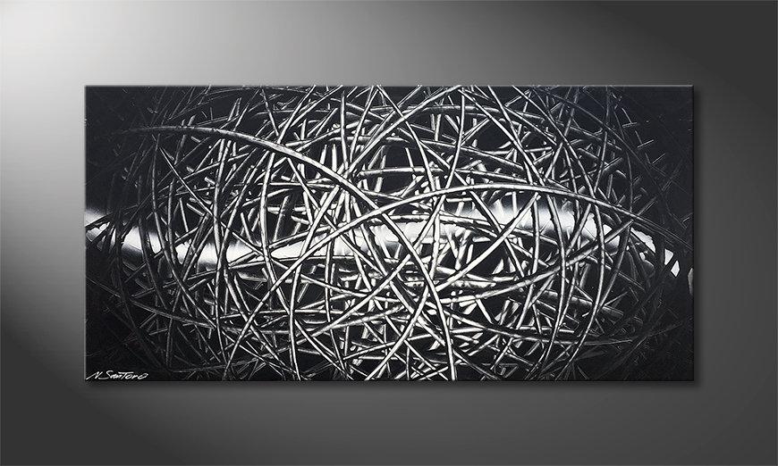 Das Wandbild Moon Tail 120x60x2cm
