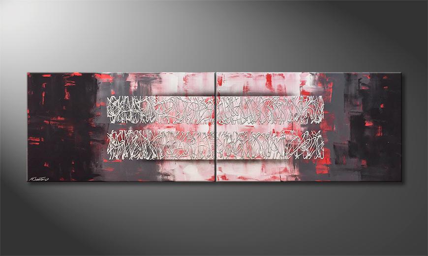 Das Wandbild Moving Moments 200x60x2cm