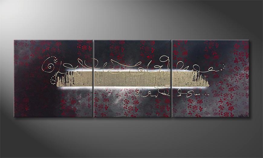 Das Wandbild Mystic Rose Garden 210x70x2cm